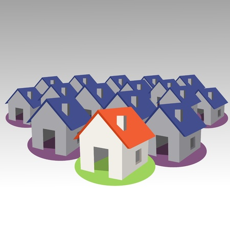 Houses icon collection. Vector Vector