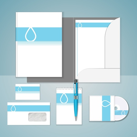 Set of templates corporate identity
