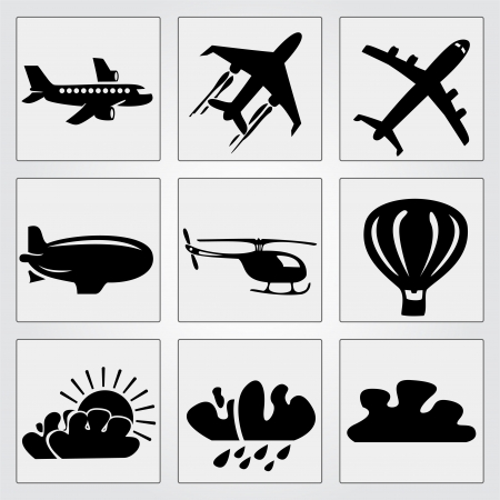 Travel icons set. Vector illustration Vector