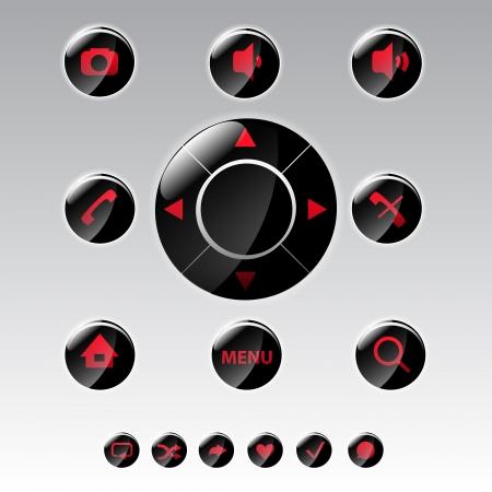 Mobile phone menu icons - icon set Vector