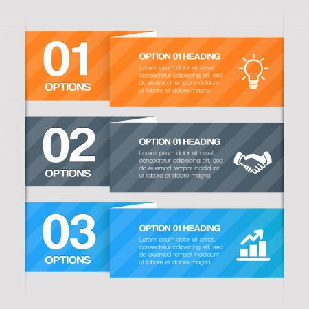Modern Step By Step Web Elements. Design Infographics Vector