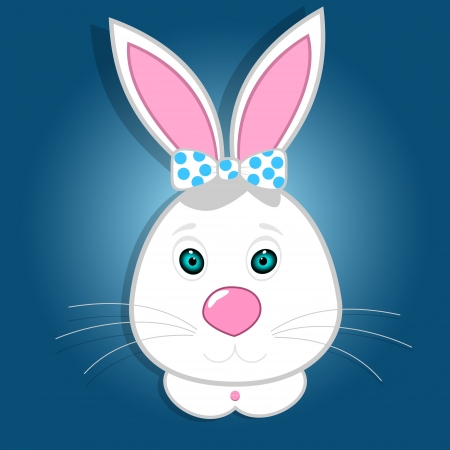 Cute funny bunny illustration Vector