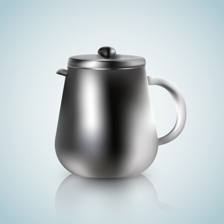 kettle on a white blue background Vector