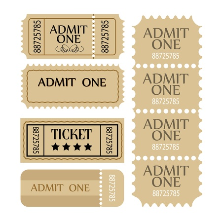 Ticket set. coupon set. Vector