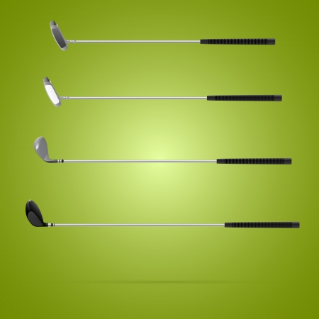 Four different type of golf clubs Vector