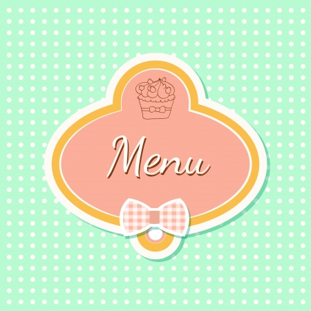 Menu with cupcake Vector
