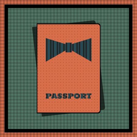 Passport cover illustration Stock Vector - 20016594