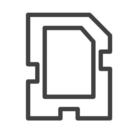 sd card icon logo or illsutration design. perfect for web, pattern, mobile app design etc. Иллюстрация