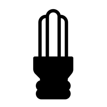 energy lamp icon logo or illustration with solid stroke style vector design. perfect use for web, mobile app, pattern, design etc.