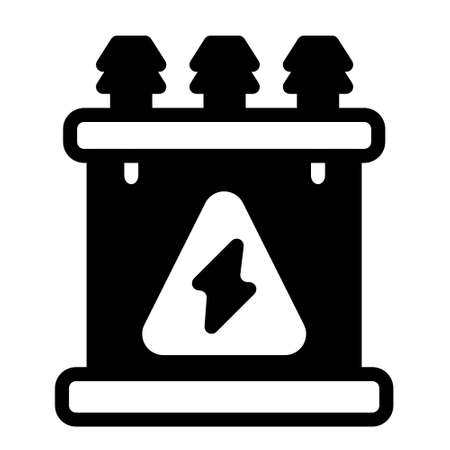 energy supply icon logo or illustration with solid stroke style vector design. perfect use for web, mobile app, pattern, design etc. Ilustração