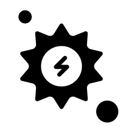 Energy settings icon logo or illustration with solid stroke style vector design. perfect use for web, mobile app, pattern, design etc.
