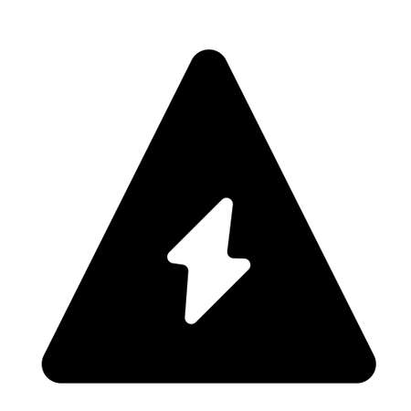 energy attention icon logo or illustration with solid stroke style vector design. perfect use for web, mobile app, pattern, design etc.