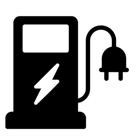 energy station icon logo or illustration with solid stroke style vector design. perfect use for web, mobile app, pattern, design etc.
