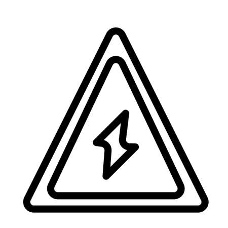 energy attention icon logo or illustration with outline stroke style vector design. perfect use for web, mobile app, pattern, design etc.