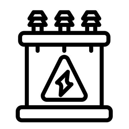 energy supply icon logo or illustration with outline stroke style vector design. perfect use for web, mobile app, pattern, design etc.