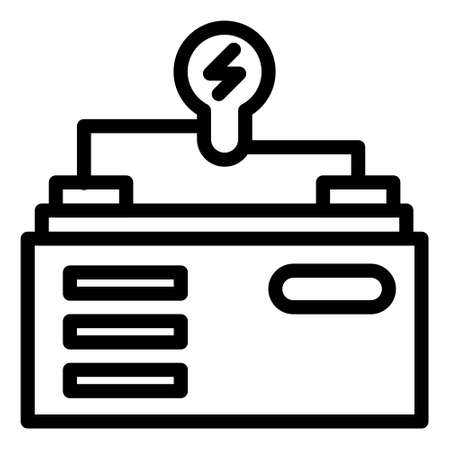 energy source icon logo or illustration with outline stroke style vector design. perfect use for web, mobile app, pattern, design etc.