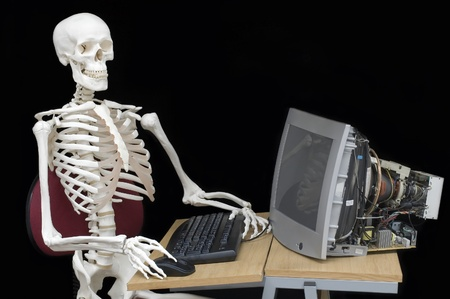 Skeleton staff photo