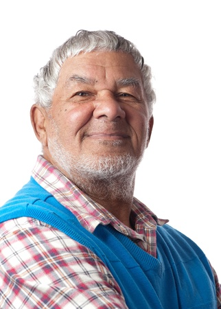 A friendly retired citizen is happy to age gracefully  Stock Photo