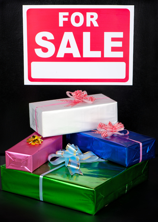 Well packaged gifts are offered for sale.