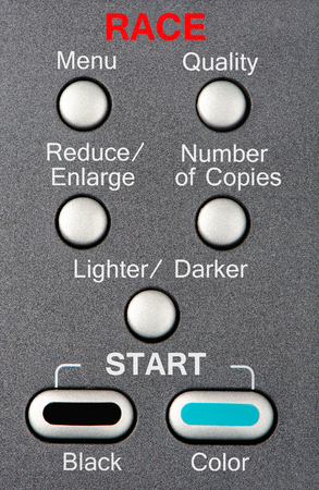 A keypad allows for the manufacturing and control of a chosen race. Stock Photo
