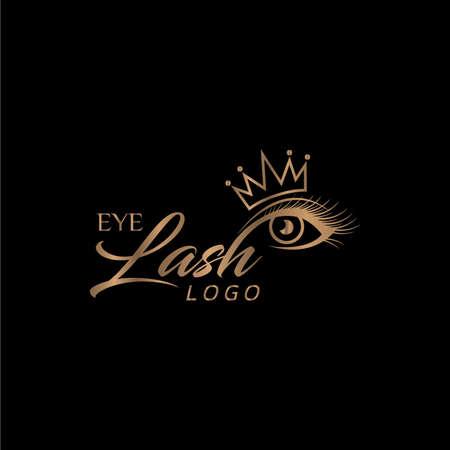 Eyelash Logo with Crown