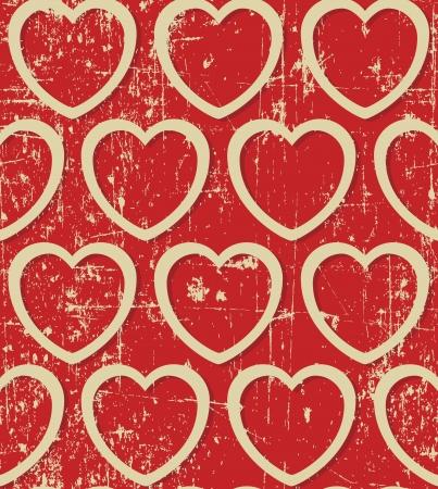 Light beige hearts on grunge background, seamless pattern Stock Vector - 17804368
