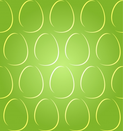 Light abstract easter eggs on green background, seamless pattern