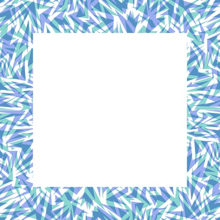 Abstract seamless border made of blue icy sharp shapes Stock Vector - 18931756