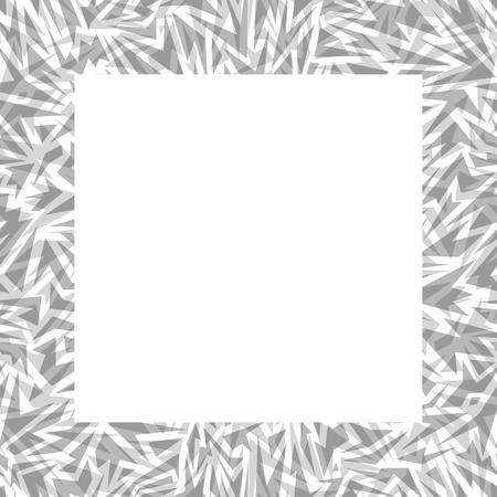 Abstract seamless border made of gray sharp shapes