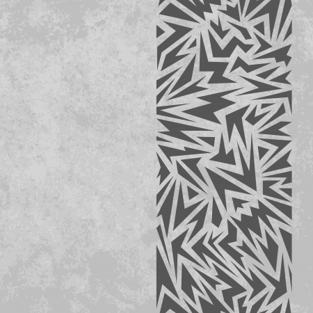 Abstract seamless border made of gray sharp shapes on grunge background Stock Vector - 18990239