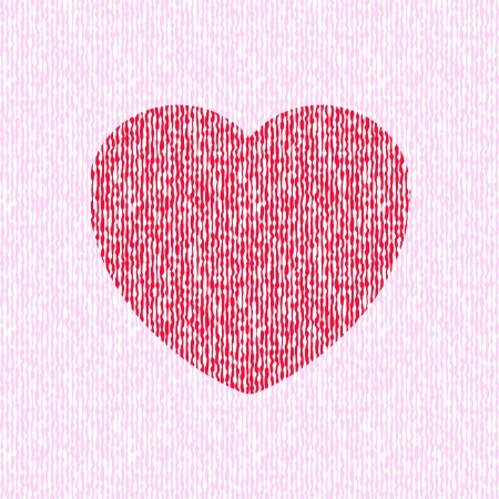 Bright abstract red heart on seamless liquid pink background Stock Vector - 19383022