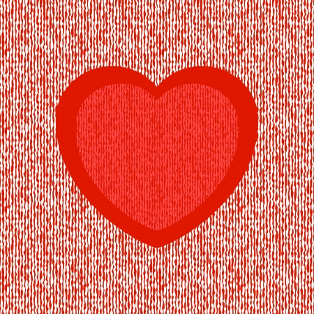 Bright abstract red heart on seamless liquid background Stock Vector - 19383019