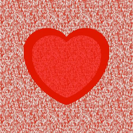 Luminoso astratto cuore rosso su sfondo trasparente liquido