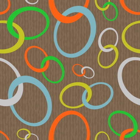 Abstract retro seamless pattern made of chain-looking ovals Vector