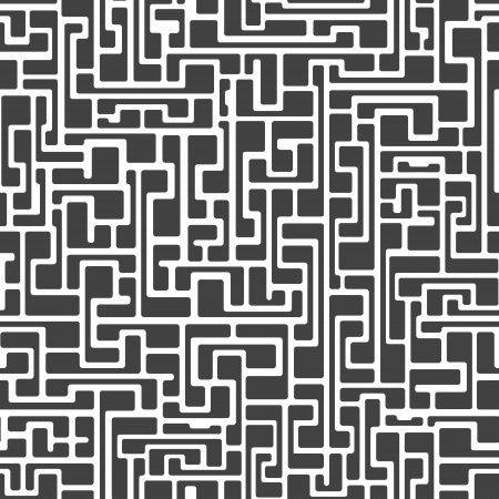 Labyrinth abstract seamless pattern in gray color on white background Stock Vector - 21934912
