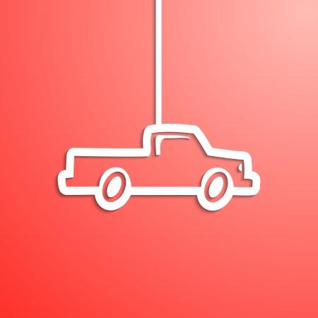 Cartoon carta sguardo auto (pick-up)