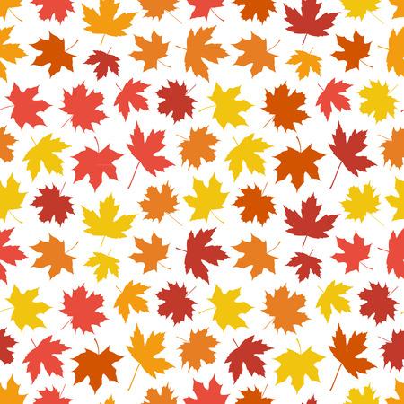 Seamless sfondo fatto di foglie d'acero in colori caldi autunnali