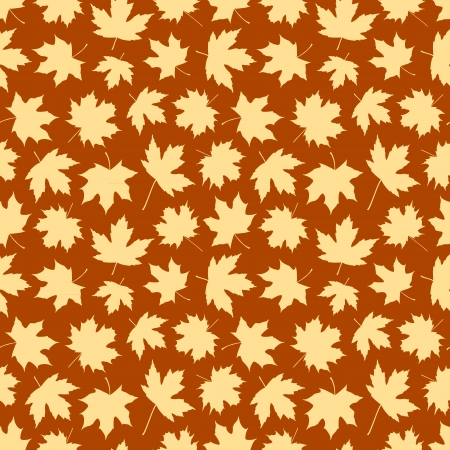 Seamless background made of maple leafs in brown autumn colors Vector