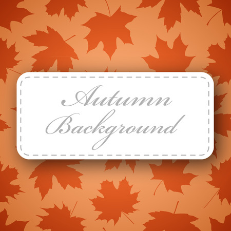 Seamless background made of maple leafs in warm autumn colors Illustration