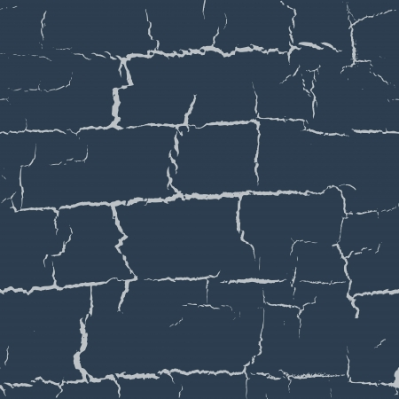 Abstract horizontal cracks seamless pattern in dark blue colors Vector