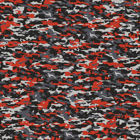 Typical seamless camouflage pattern in red and gray colors