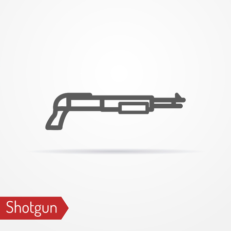 Shotgun silhouette vector icon