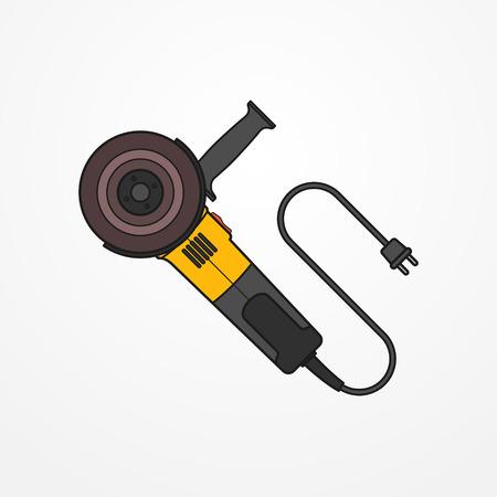 angle grinder: Electric angle grinder vector image Illustration