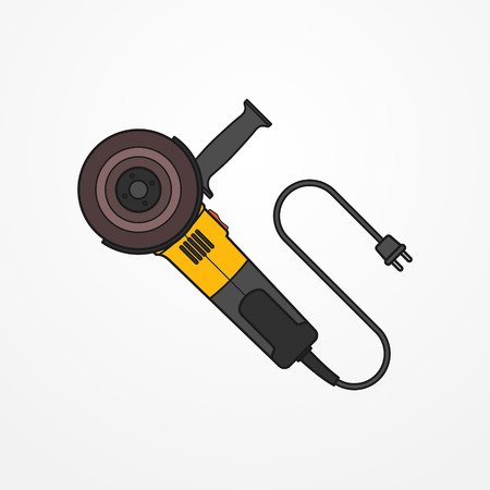 Electric angle grinder vector image Illustration