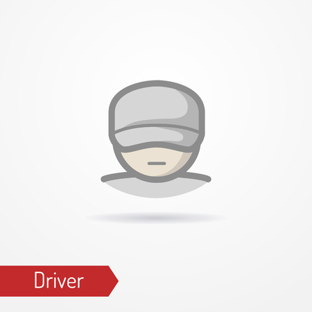 Driver face vector icon Stock Photo