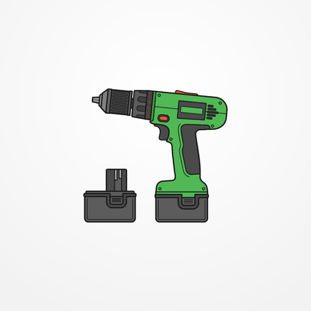 Electric cordless drill vector image