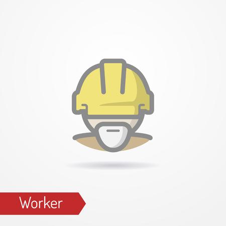 Worker face vector icon Ilustração