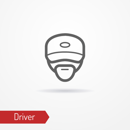 Driver face vector icon Illustration