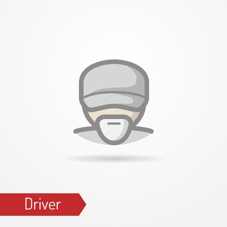 Driver face vector icon Ilustração