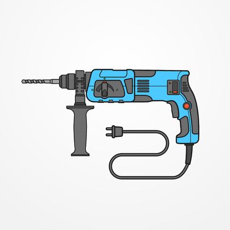 Rotary hammer vector image